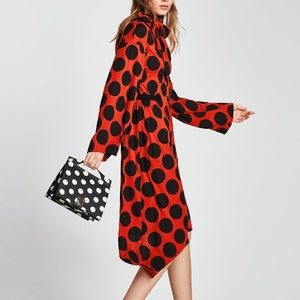 739a0cefb1e Zara Dresses - Zara polka dot dress with bow
